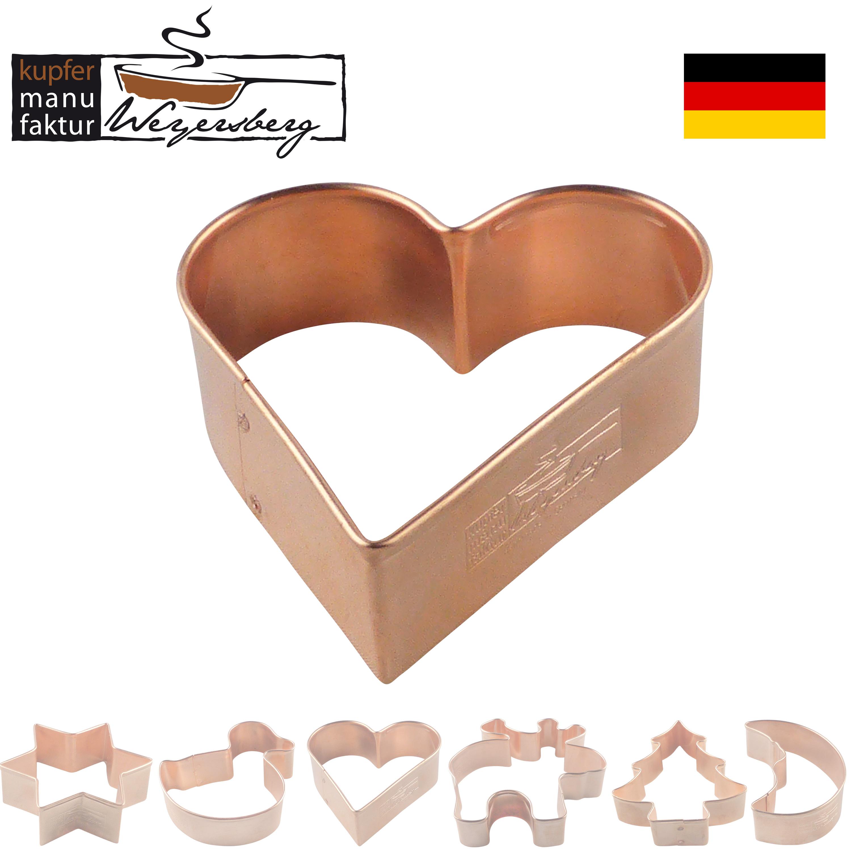Kupfermanufaktur Ausstechform Herz 5,5 cm