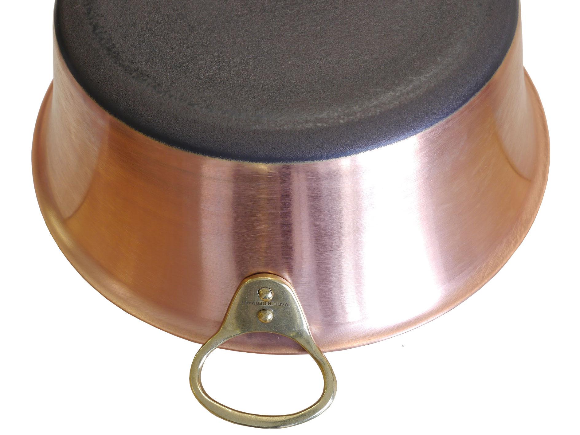 Kupfermanufaktur Marmeladentopf mit Griffen Induktion 30 cm